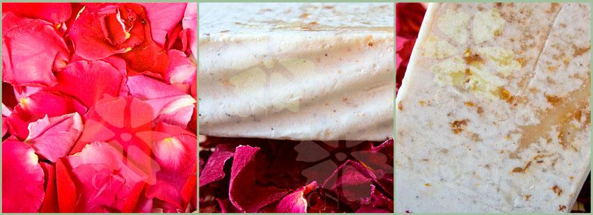 Jabón artesano y natural Exfoliante de Rosas y Rosa Mosqueta de Cosmética Natural 100x100