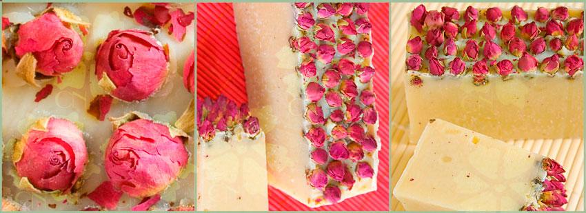 Jabón natural de rosas con manteca de Karité y Rosa Mosqueta de Cosmética Natural 100x100