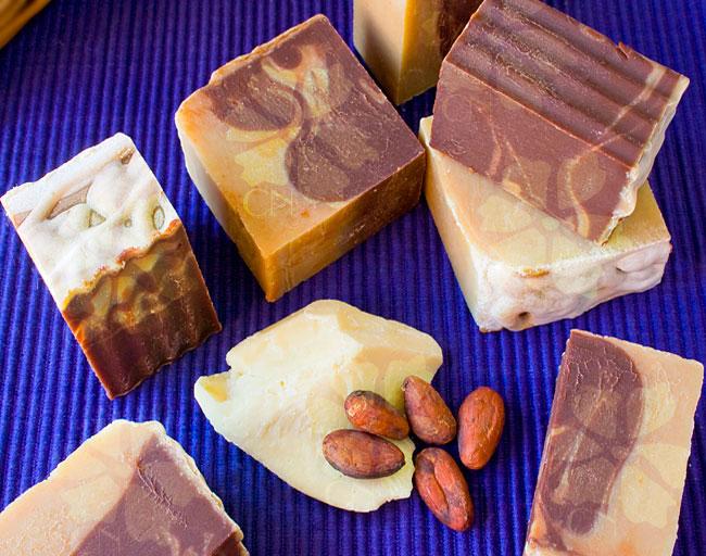 Jabón natural artesano de Chocolate con manteca de Cacao de Cosmética Natural 100x100