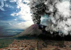 Vesubio en explosión