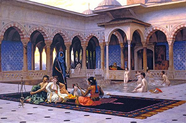 Palacio Berbere con mujeres bañándose