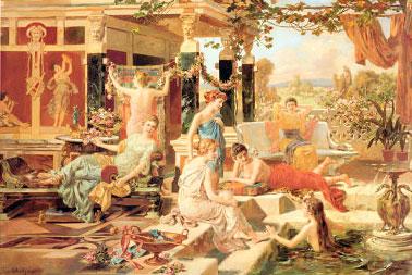 Baño romano en Pompeya