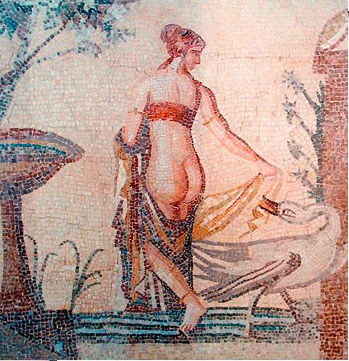 Mujer bañándose en Pompeya
