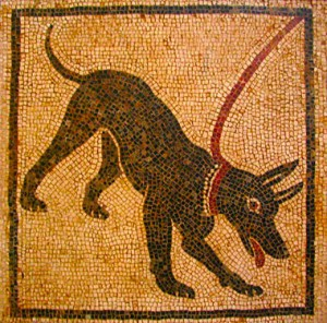 mosaico de perro