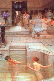 Mujeres bañándose en la antigua Roma