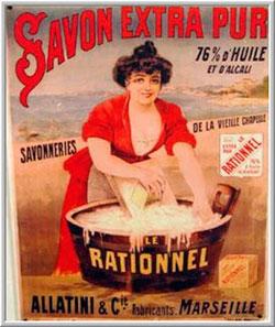 Publicidad antigua del jabón de Marsella