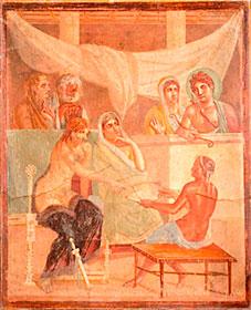 Mujeres en baño Pompeyano