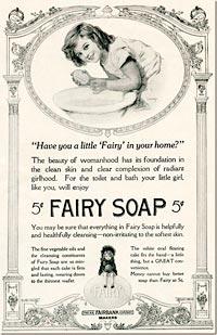 Publi antigua del jabón Fairy