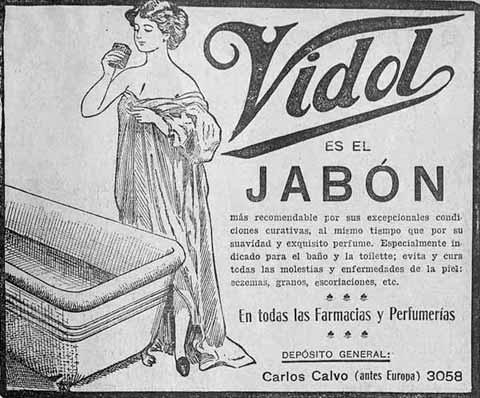 Publicidad antigua del jabón vidol