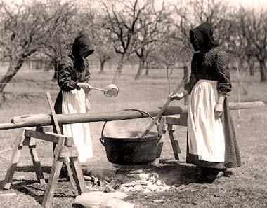 Fabricación de jabón a la manera antigua en Norteamérica